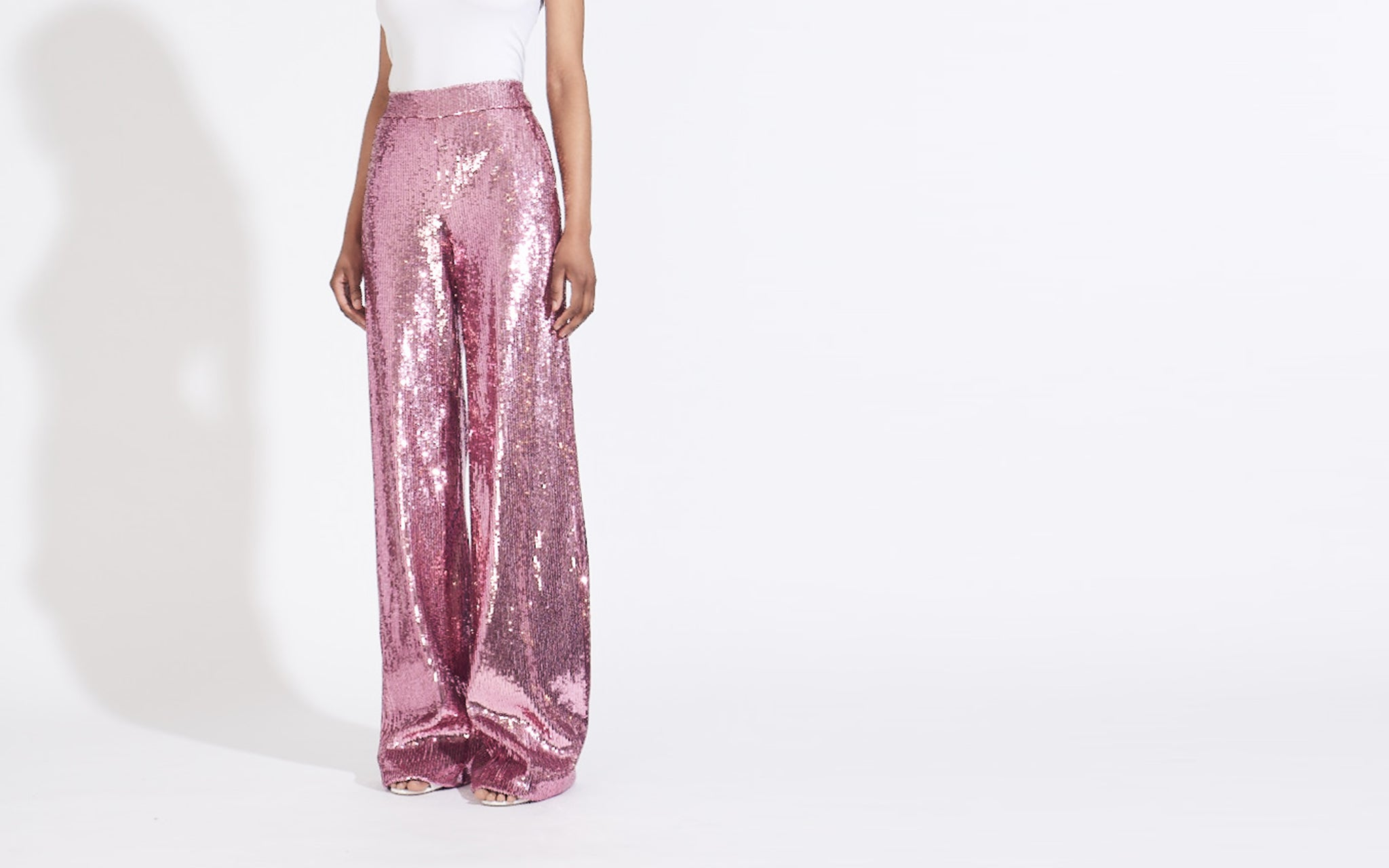 WIDE LEG SEQUIN PANT