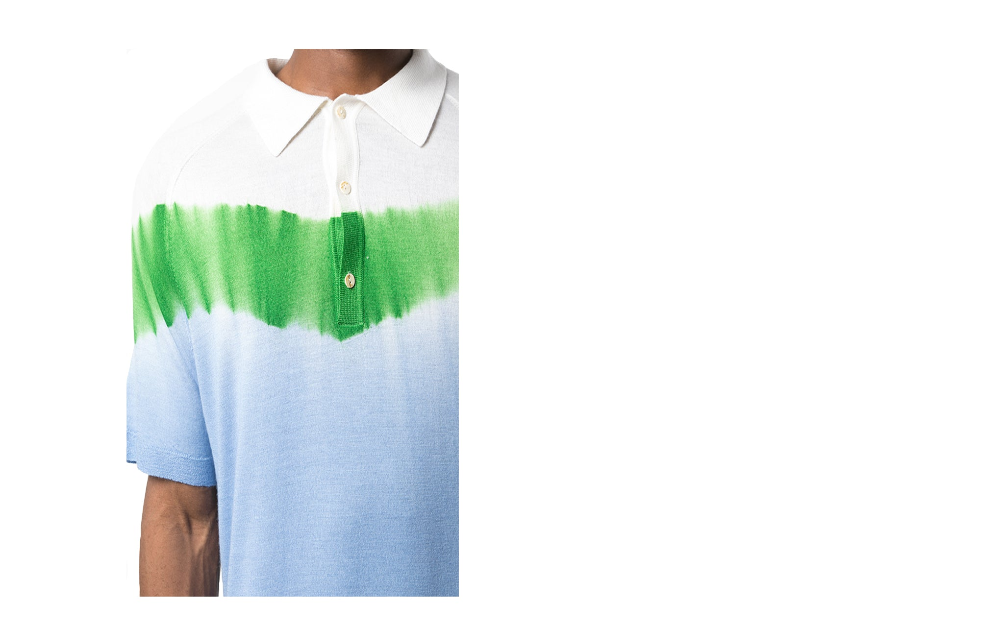 TIE DYE COLOR BLOCK POLO