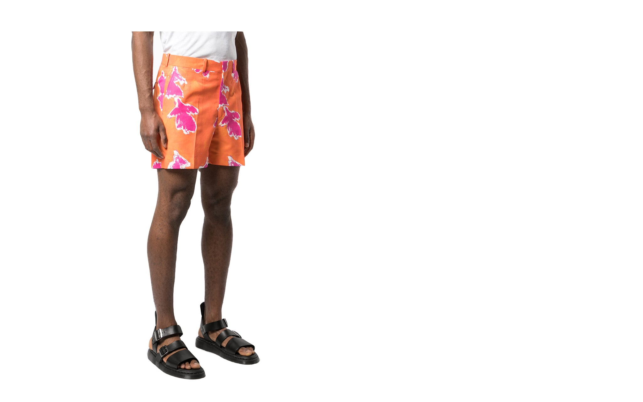 FLORAL COTTON TAILORED SHORTS