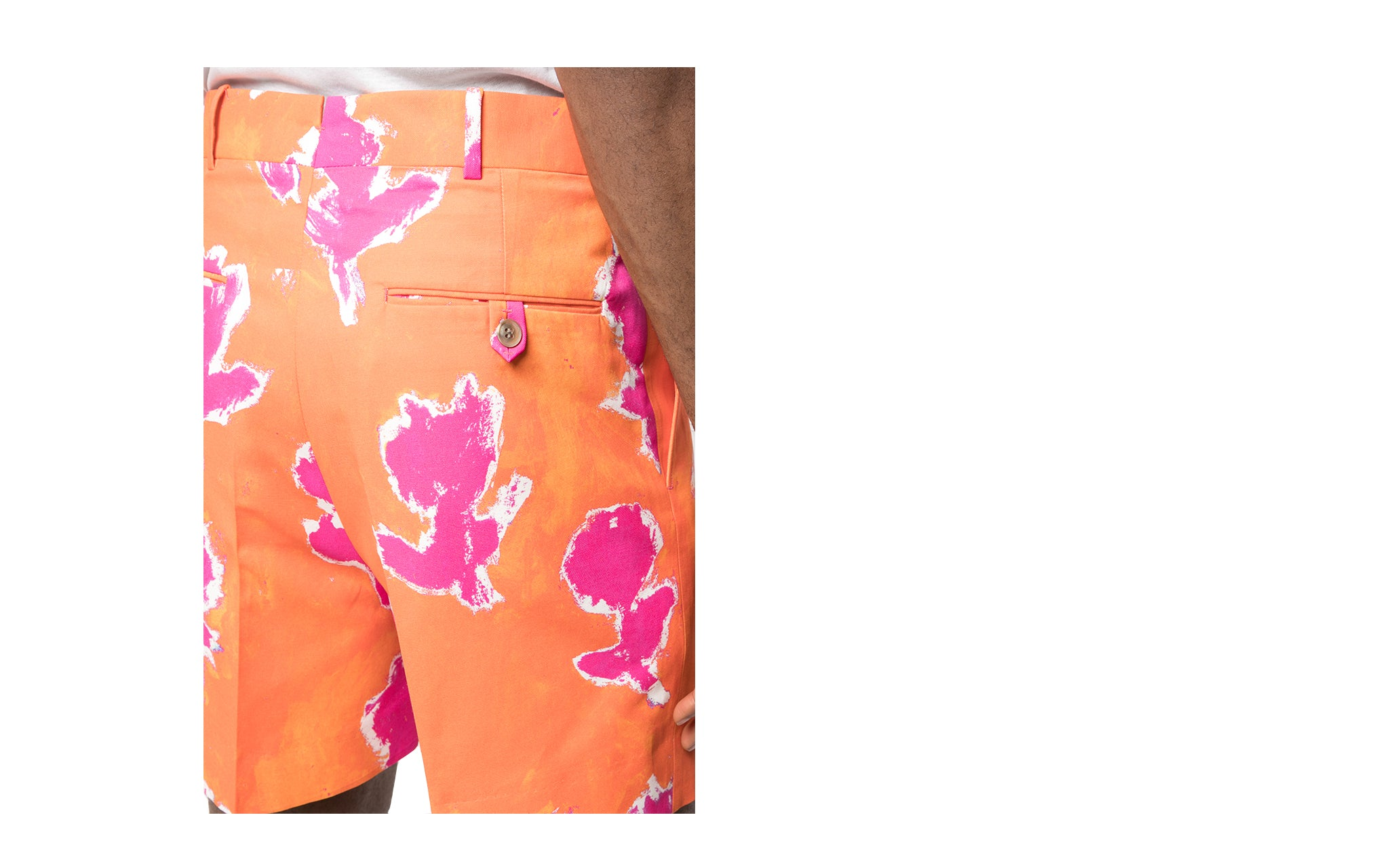FLORAL COTTON TAILORED SHORTS | Trade
