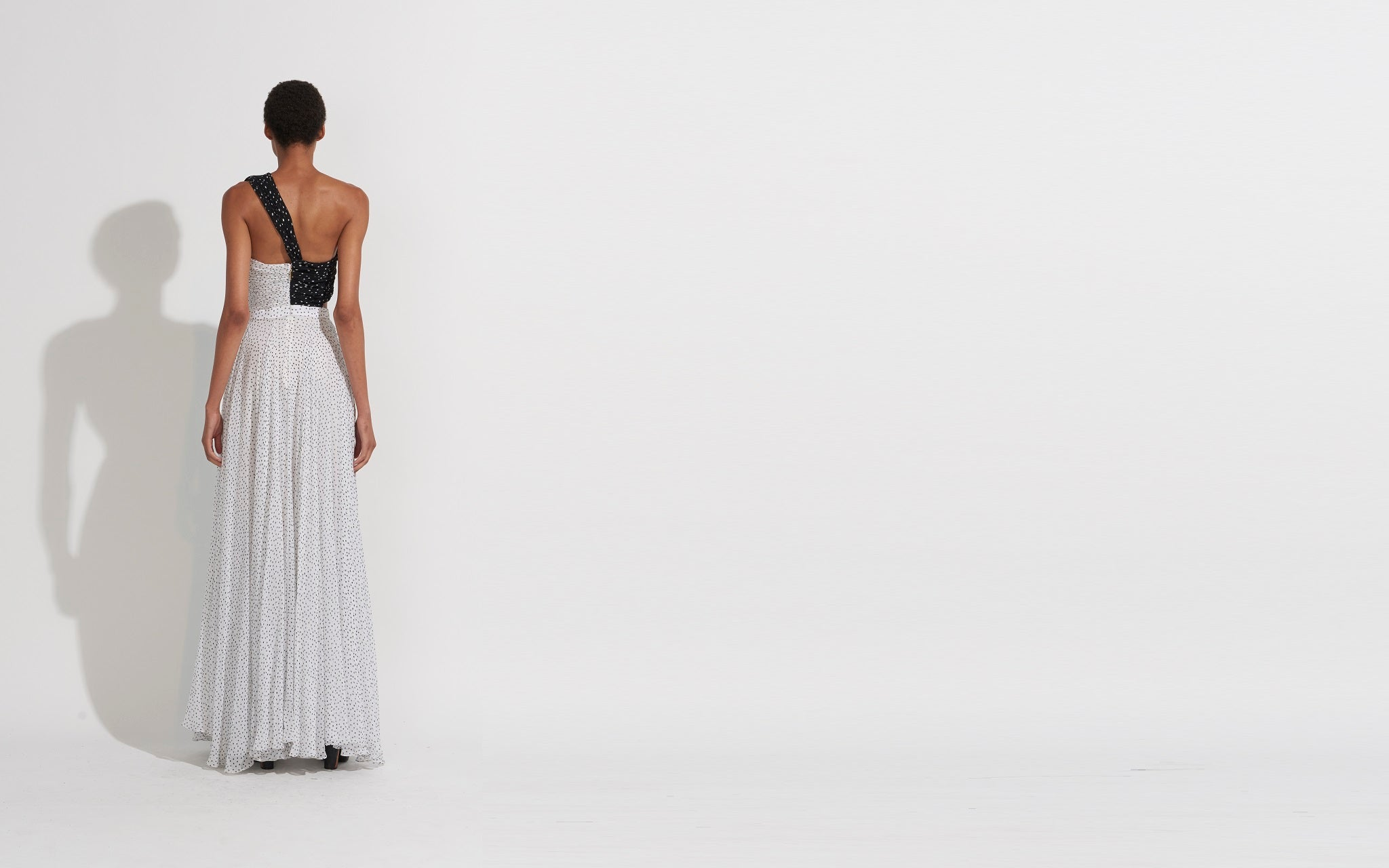 ONE SHOULDER PLEATED CHIFFON GOWN : Products – Prabal Gurung