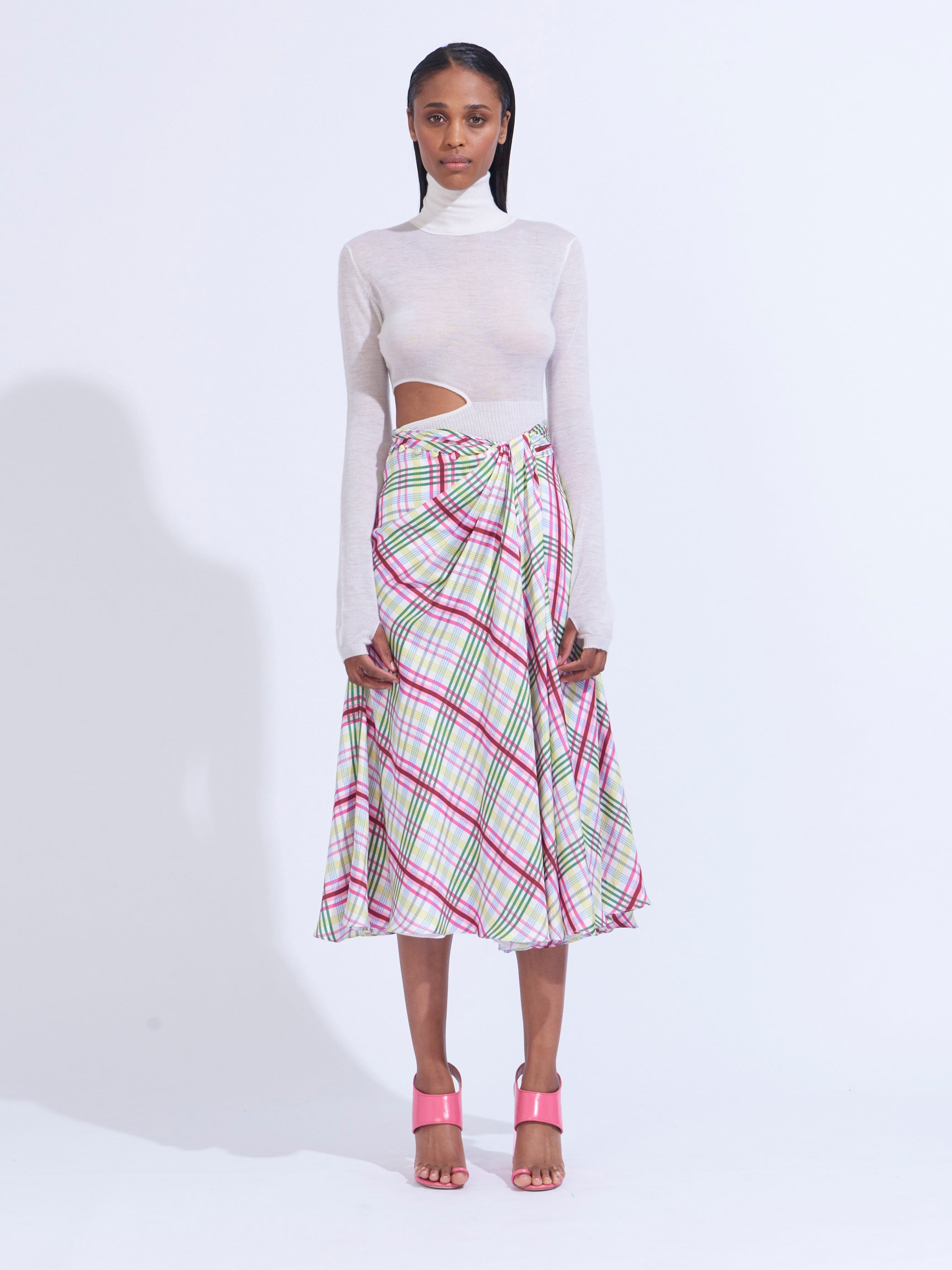MOORE SIDE TWIST FRONT SKIRT