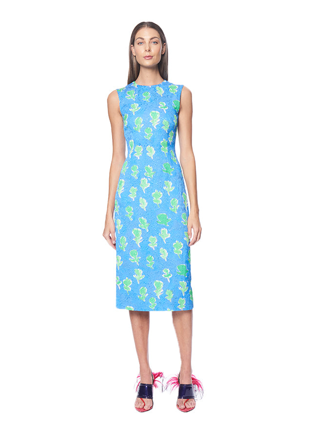 SKY BLUE SHEATH DRESS