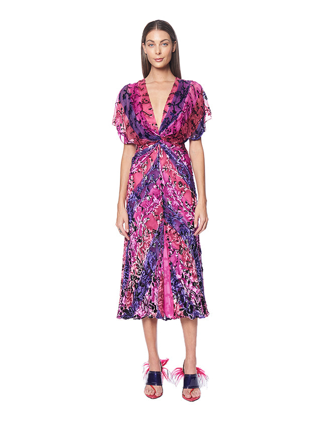 Prabal Gurung JACKIE TWIST FRONT DRESS