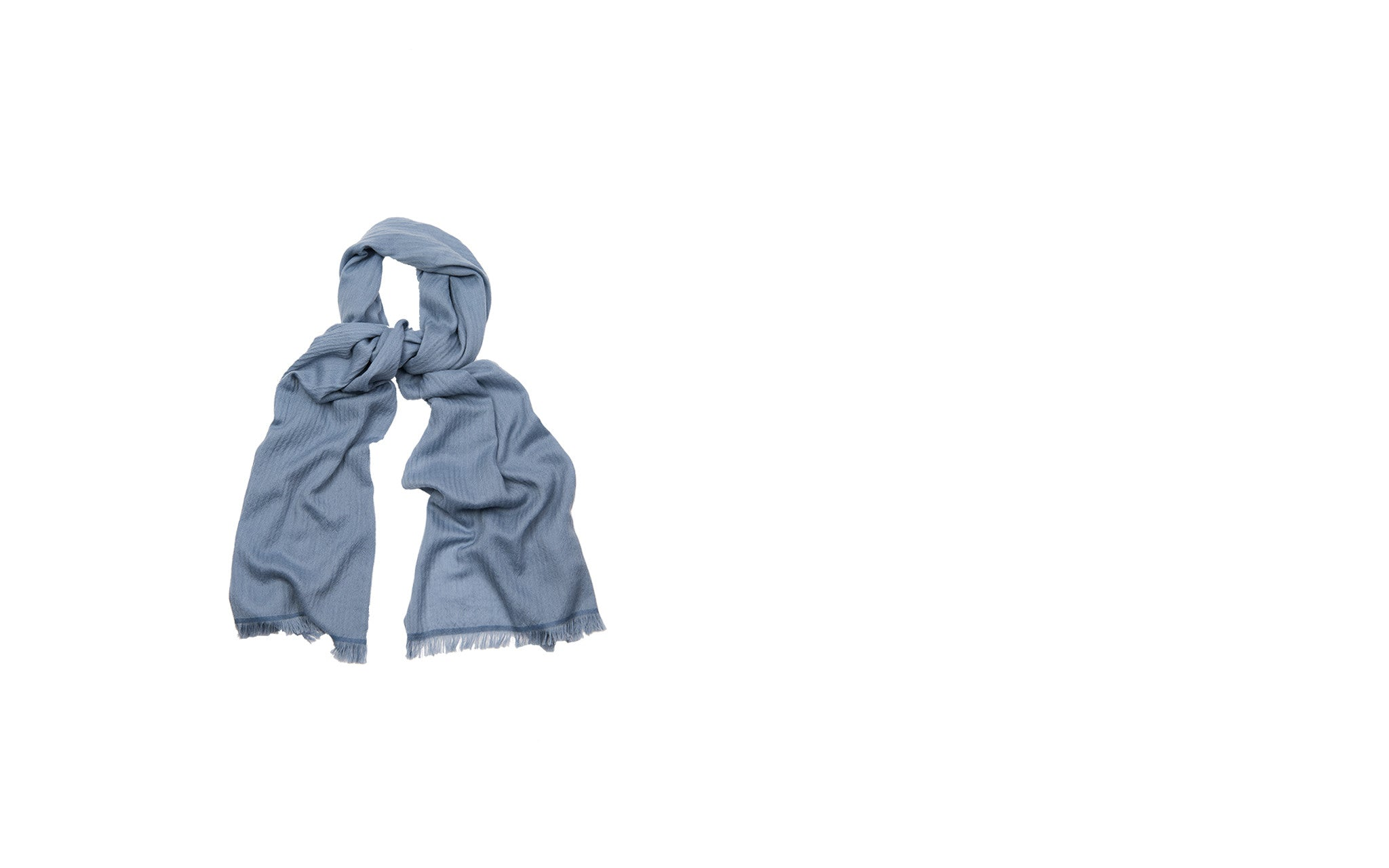 French Blue Cashmere Scarf