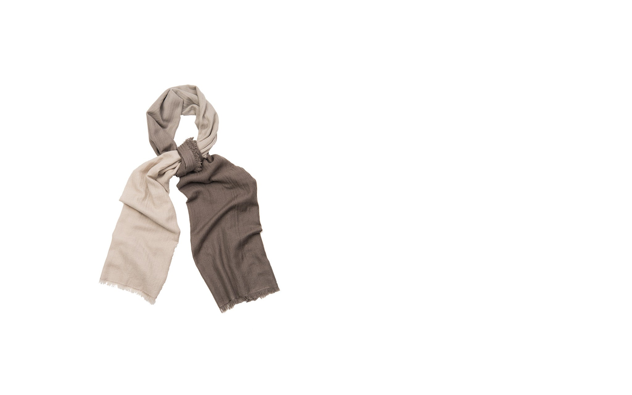 Two-toned Stone Cashmere Scarf