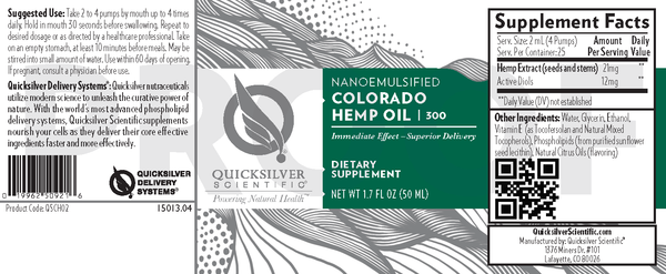 Colorado Hemp Oil | 3 Bottles