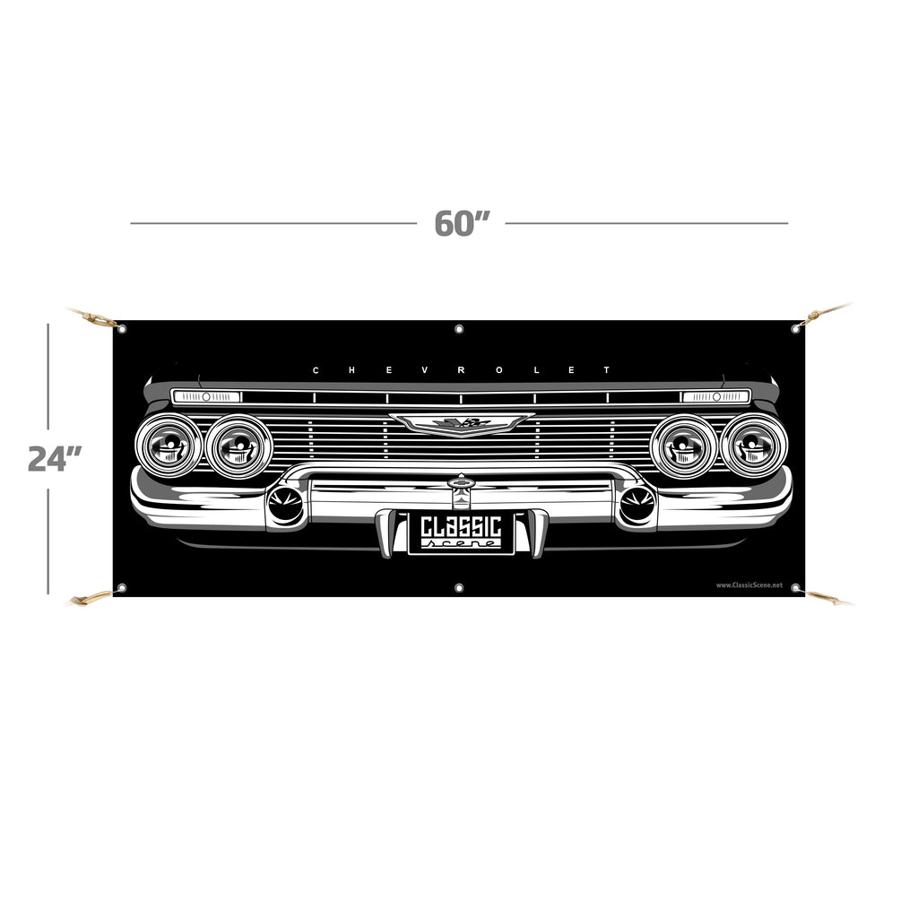 "1961 Chevy Impala | 60""x24"" Banner"