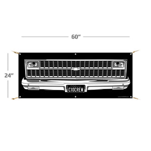 "1981-1982 C10 Truck | 60""x24"" Banner (single headlights)"