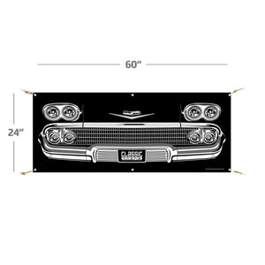 "1958 Chevy Impala | 60""x24"" Banner"