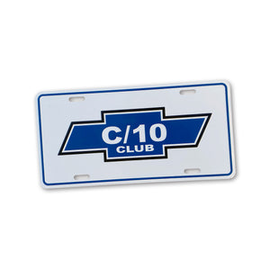 C/10 Club | Embossed License Plate