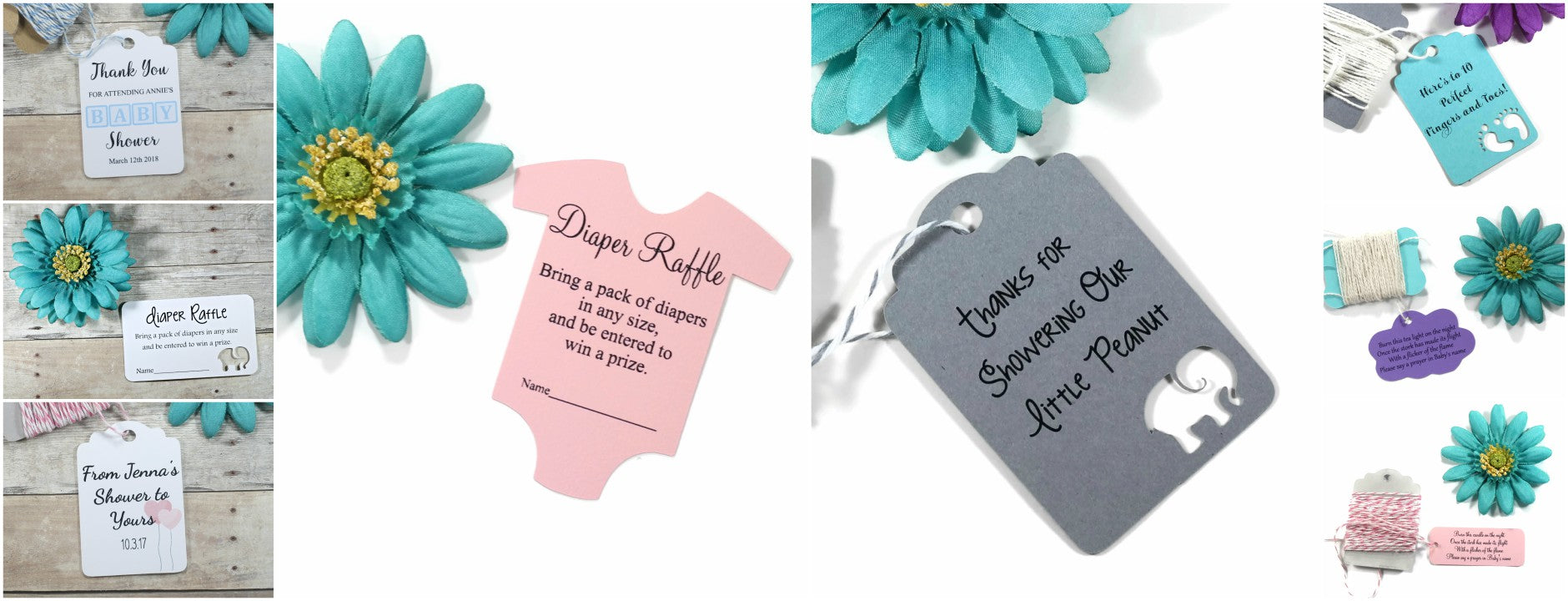 Baby Shower Thank You Favor Tags