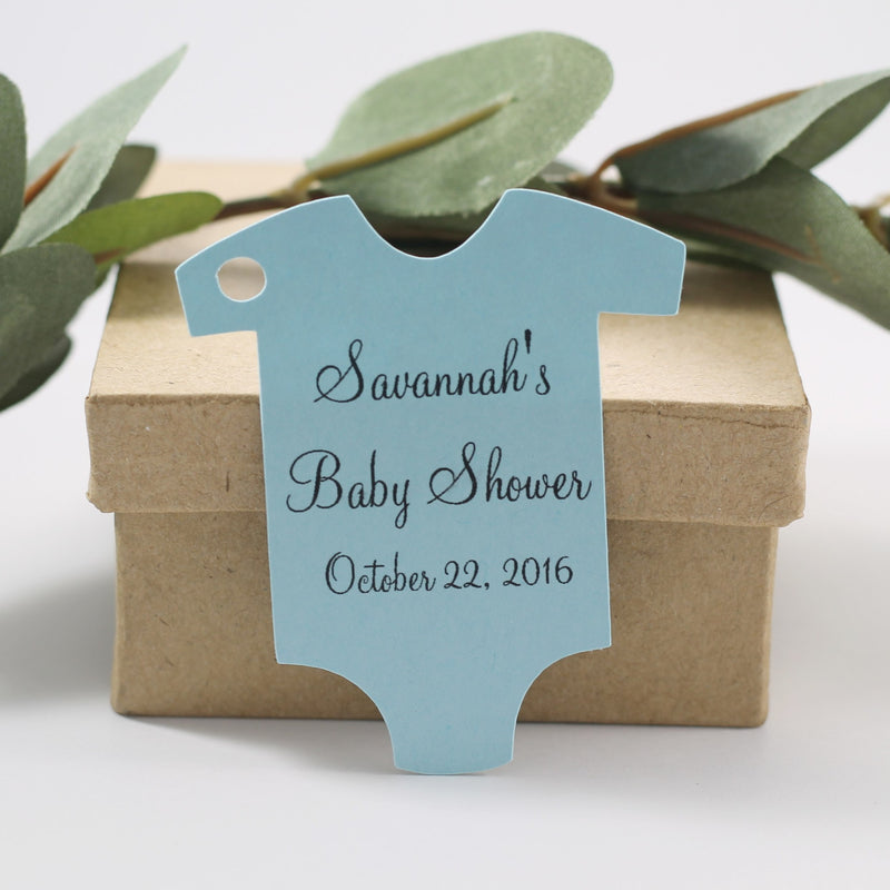 Personalized Blue One Piece Favor Tag