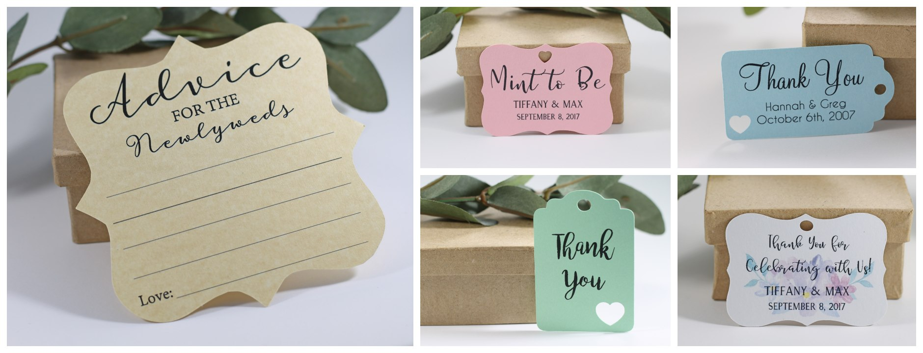Bridal shower and wedding favor tags