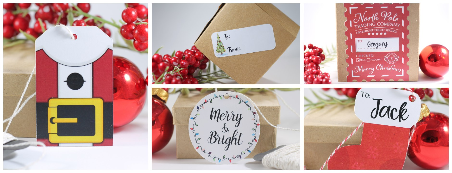 Christmas and holiday gift tags for presents