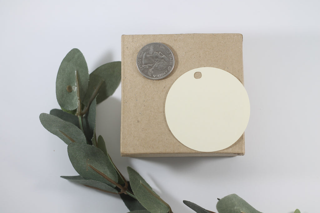 Wedding Tags - Circle Shape - Let Love Grow - Greenery - Cream - 20pc