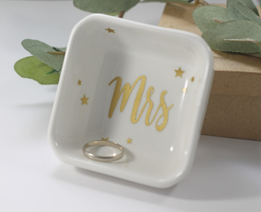 Ceramic Ring Dish with Stars