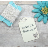 Thanks for Fluttering By Cream Butterfly Thank You Tags Set of 20 | The Paper Medley - The Paper Medley