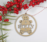 Gingerbread Girl Ornament with Child's Name