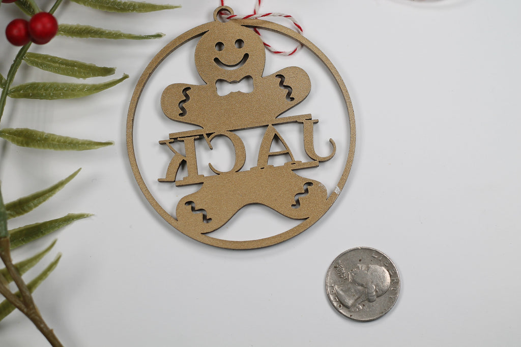 Gingerbread Ornament with Child's Name