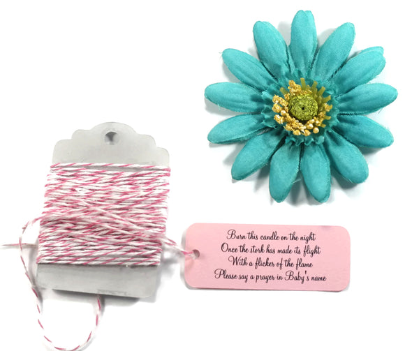 Pink Baby Shower Tags - Burn This Candle Set of 20 | The Paper Medley