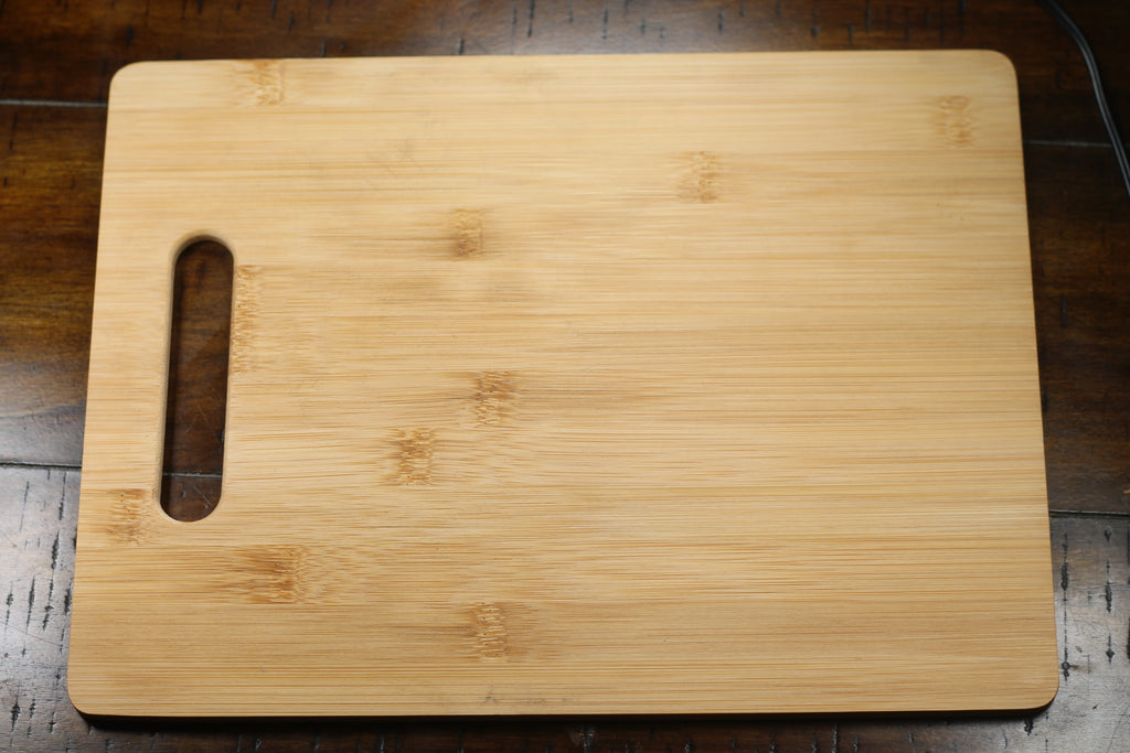 "Personalized Santa Tray on Bamboo Cutting Board 9.5"" by 12.5"""