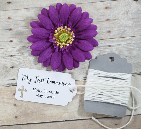 White Communion Tags Set of 20 - My First Communion | The Paper Medley