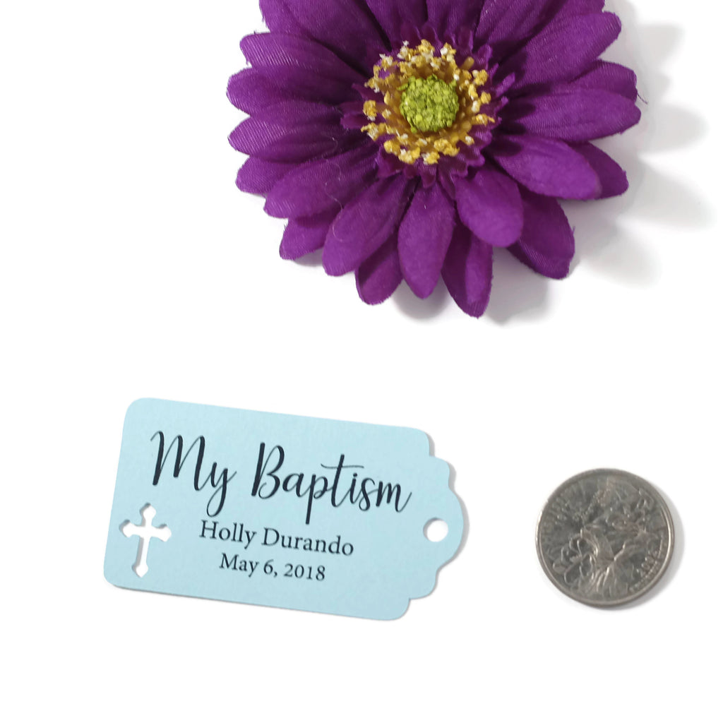 Small Baptism Tags - My Baptism - Light Blue - 20pc-Baptism Favor Tags-The Paper Medley