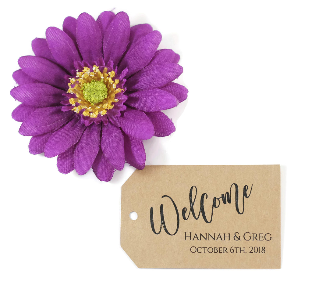 Personalized Wedding Tags - Welcome - Kraft Brown - 20pc-Wedding Tags-The Paper Medley