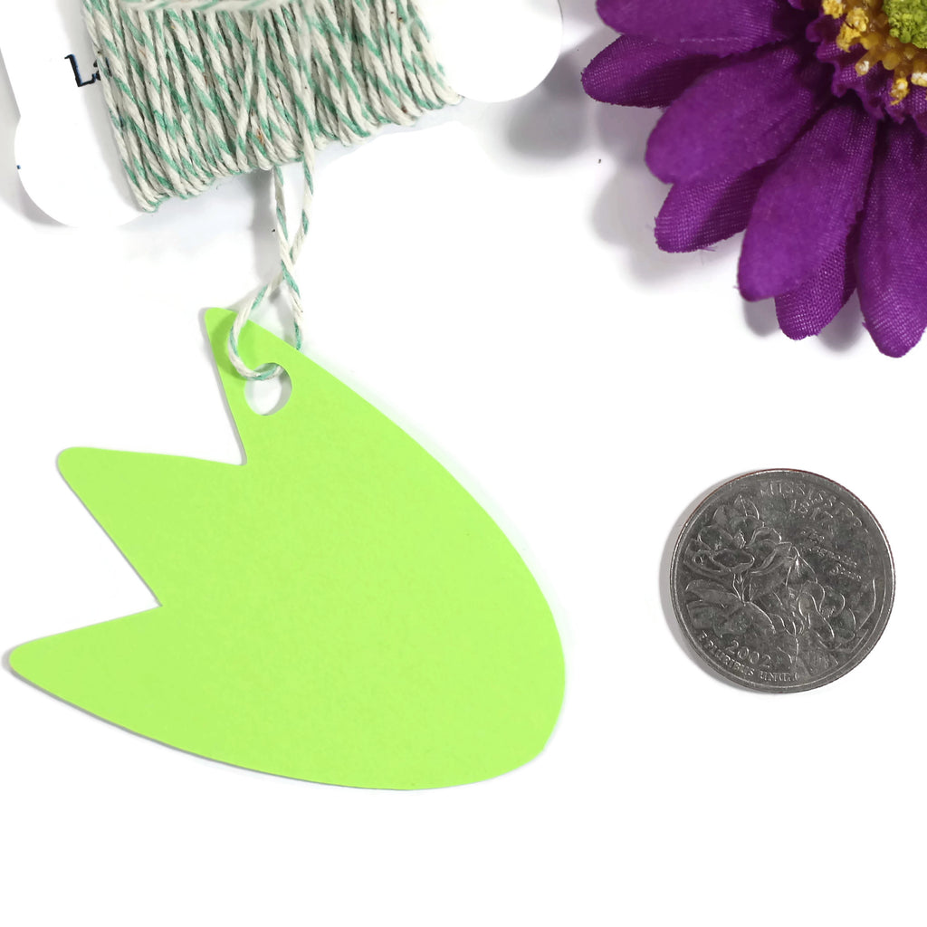 Dinosaur Feet Party Tags for Kids Birthday - Lime Green Thank You - 20pc-Party Tags-The Paper Medley