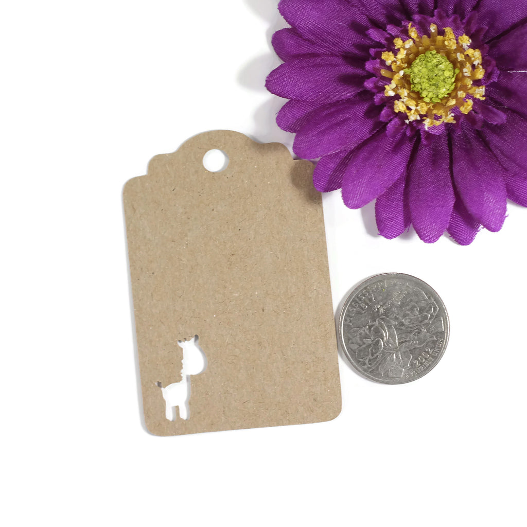 Jungle Party Tags with Giraffe - Thank You - Kraft Brown - 20pc-Party Tags-The Paper Medley
