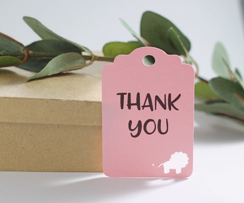 Light Pink Lion Party Thank You Tags Set of 20 | The Paper Medley - The Paper Medley