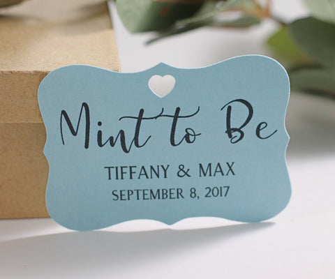 Blue Mint to Be Wedding Tags (Set of 20) - The Paper Medley