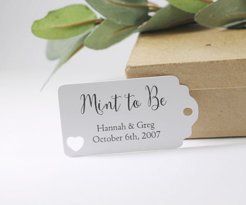 Mint to Be White Wedding Favor Tags Set of 20 - The Paper Medley