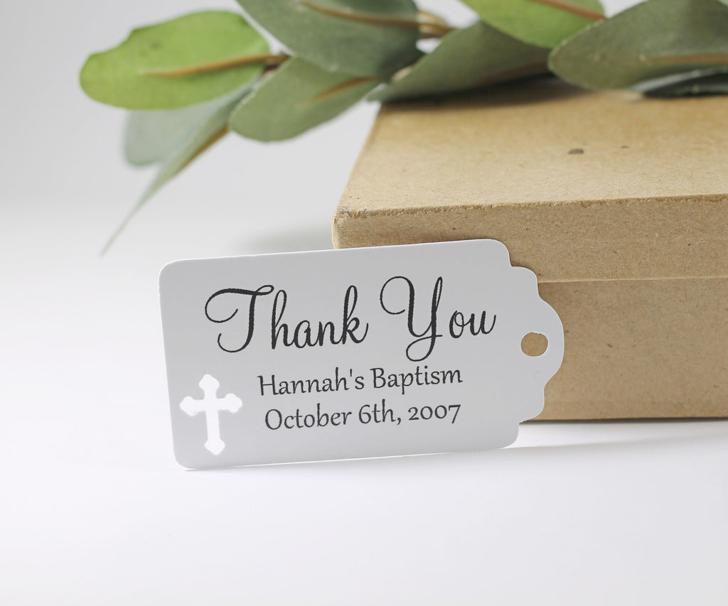 Small White Baptism Tags Set of 20 - The Paper Medley