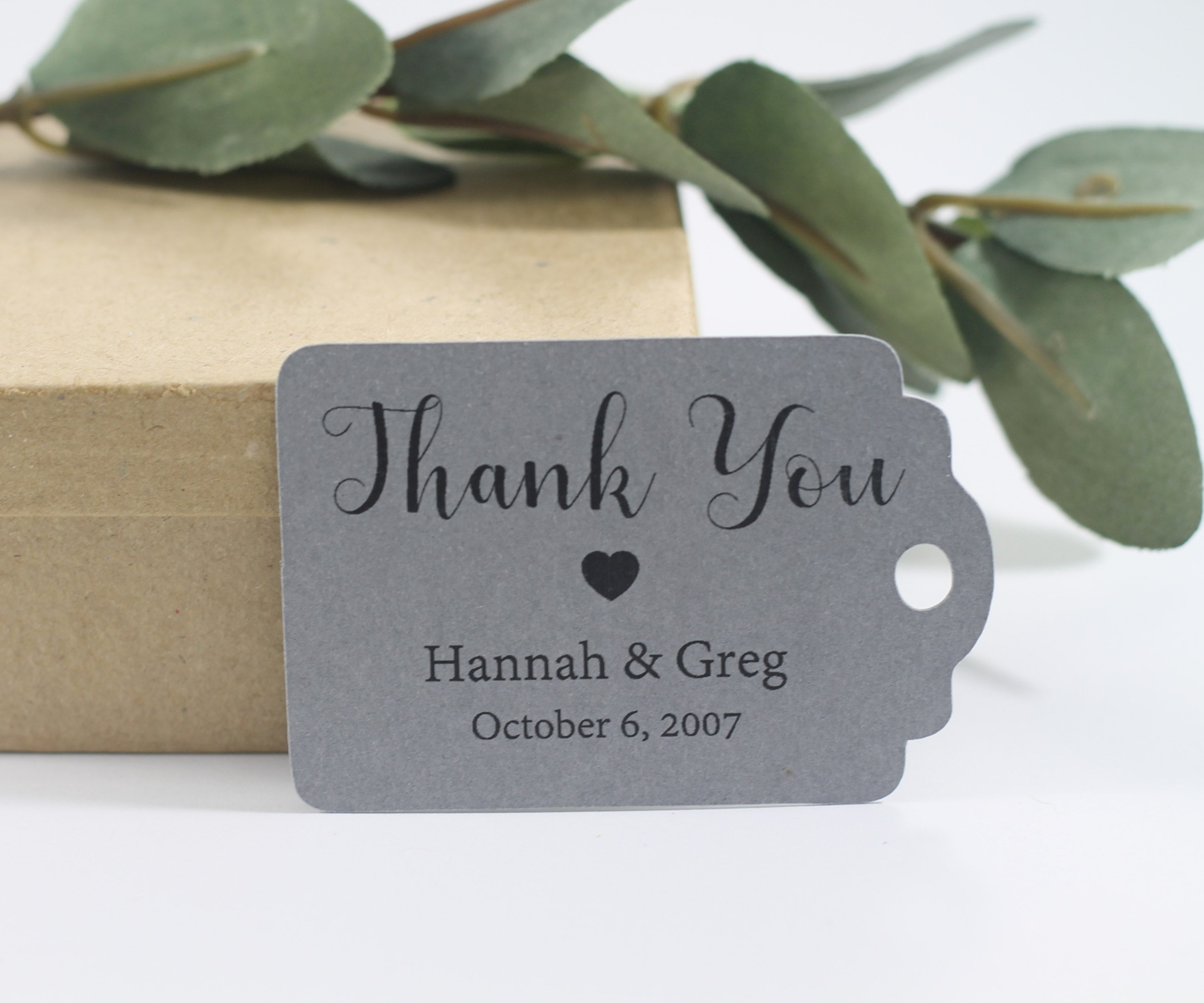 Personalized Wedding Tags - Wedding Gift Tags in Grey - 20pc-Wedding Tags-The Paper Medley