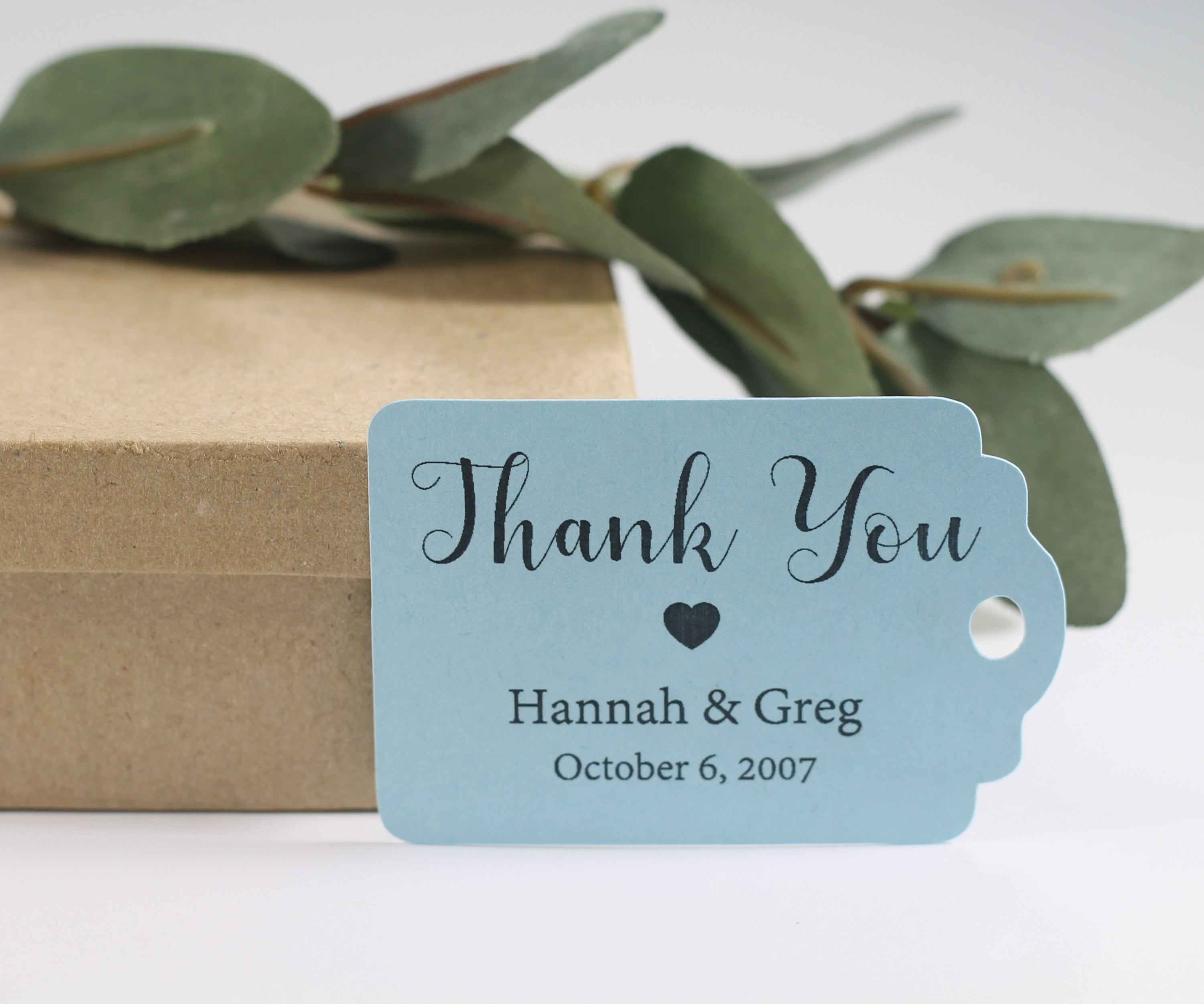 Personalized Wedding Tags - Light Blue Wedding Gift Tags with Personalizedd Text - 20pc-Wedding Tags-The Paper Medley