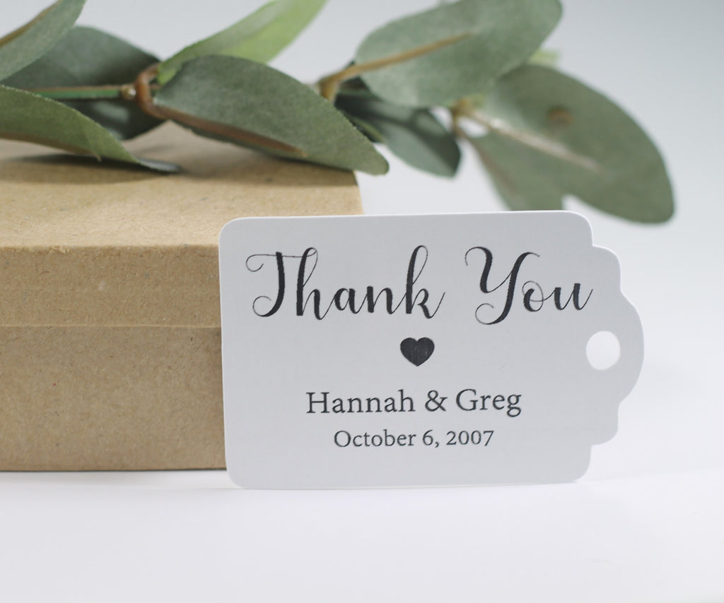 Personalized Wedding Tags - Wedding Thank You Gift Tags - 20pc-Wedding Tags-The Paper Medley