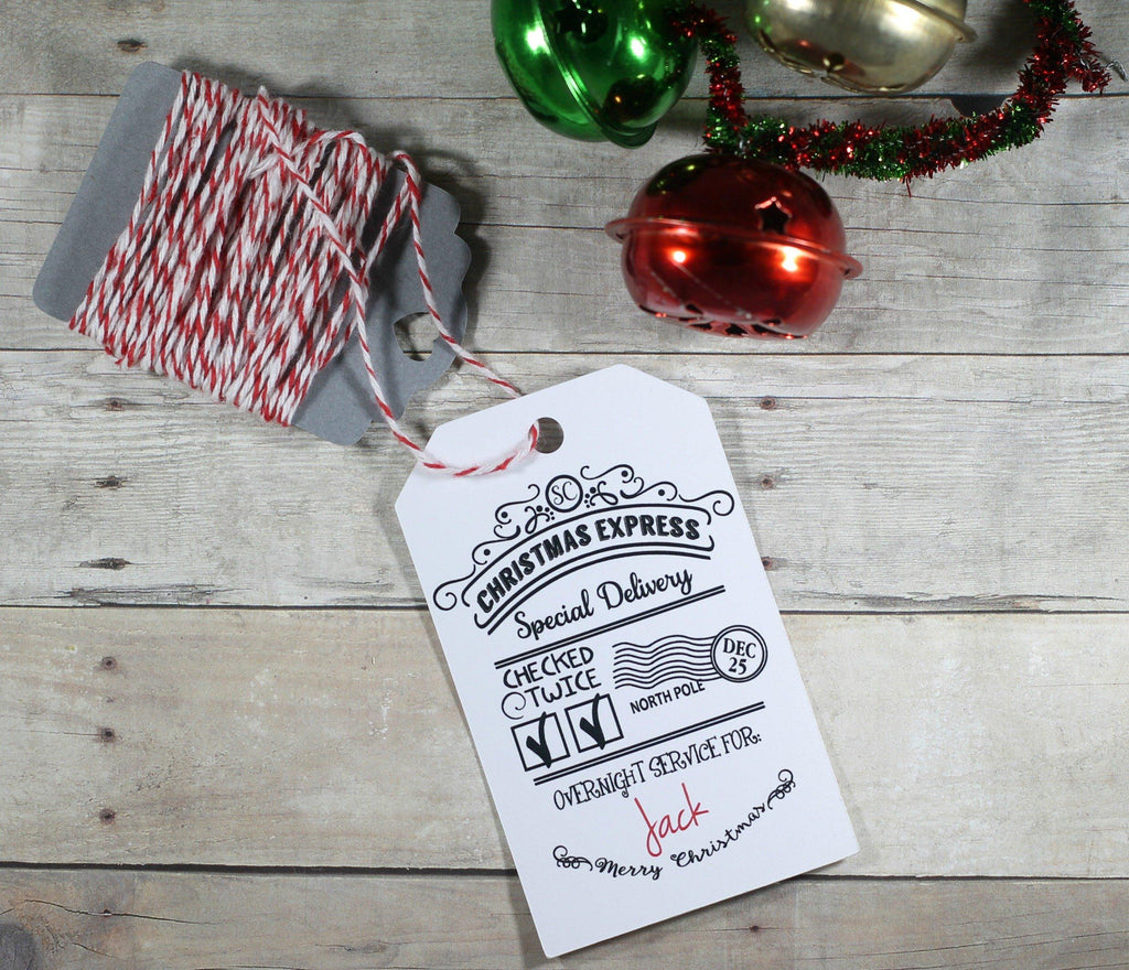 Christmas Tags - Child's Present Labels From Santa - Special Delivery 5pc-Christmas Tags-The Paper Medley