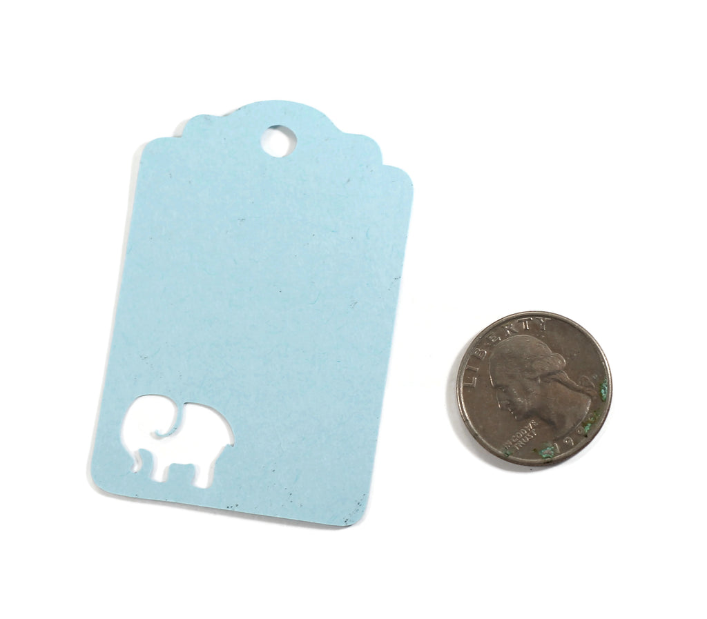 Baby Shower Tags with Elephant - Thank You Tags - Light Blue - 20pc-Baby Shower Tags-The Paper Medley