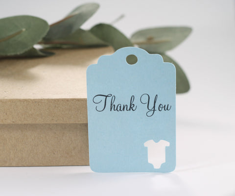 Baby Blue Shower Tags (Set of 20) | The Paper Medley - The Paper Medley