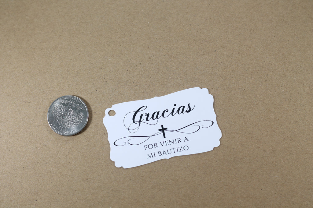 Baptism Tags - Spanish - White - 20pc-Baptism Favor Tags-The Paper Medley
