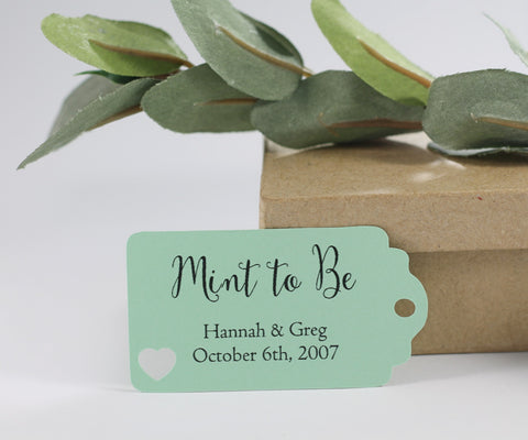 Green Mint to Be Wedding Favors (Set of 20) - The Paper Medley