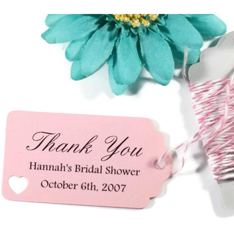 Small Pink Bridal Shower Favor Tags Set of 20 | The Paper Medley - The Paper Medley