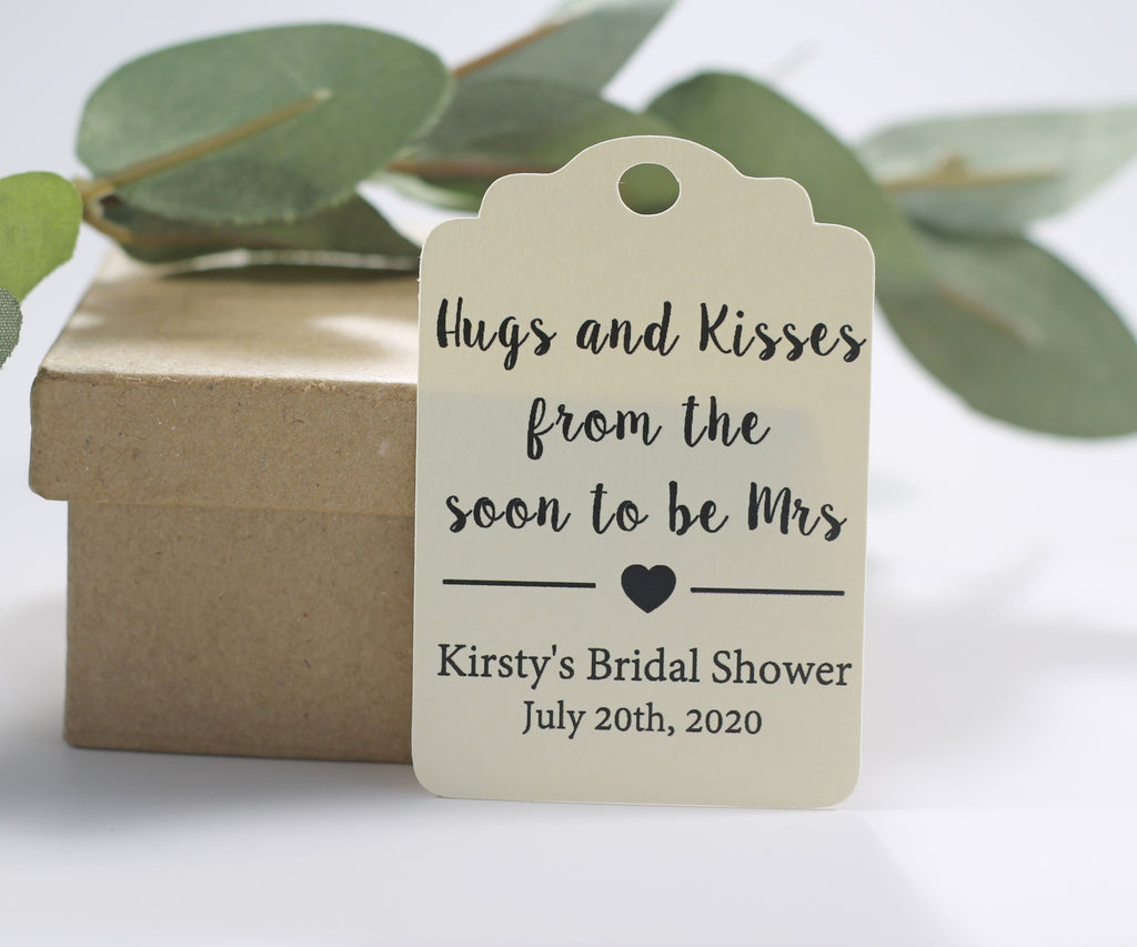 Hugs and Kisses Bridal Shower Tags - 20pc-Bridal Shower Tags-The Paper Medley