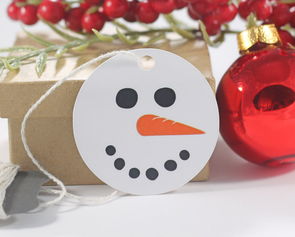 Round Snowman Themed Holiday Gift Tags 10pc-Christmas Tags-The Paper Medley