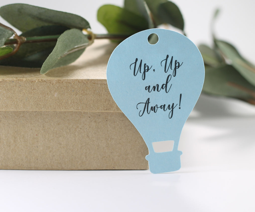 Baby Shower Tags - Blue - Hot Air Balloon - 20pc-Baby Shower Tags-The Paper Medley