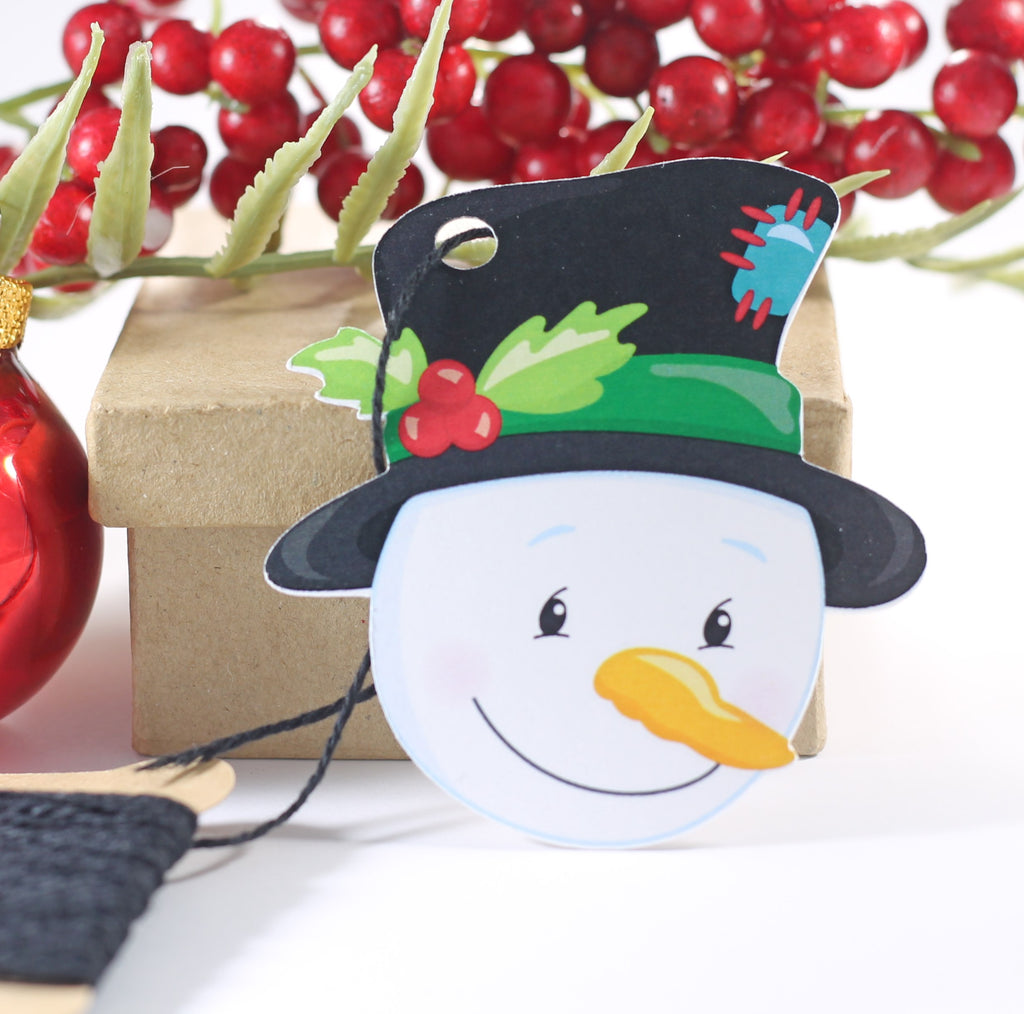Snowman Themed Holiday Gift Tags 10pc-Christmas Tags-The Paper Medley