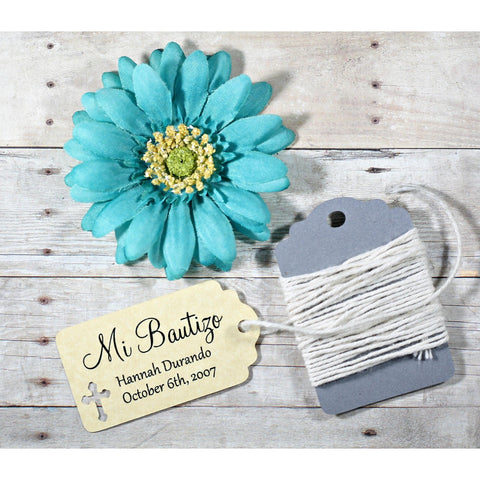 Small Antique Gold Baptism Tags - Mi Bautizo Set of 20 | The Paper Medley - The Paper Medley