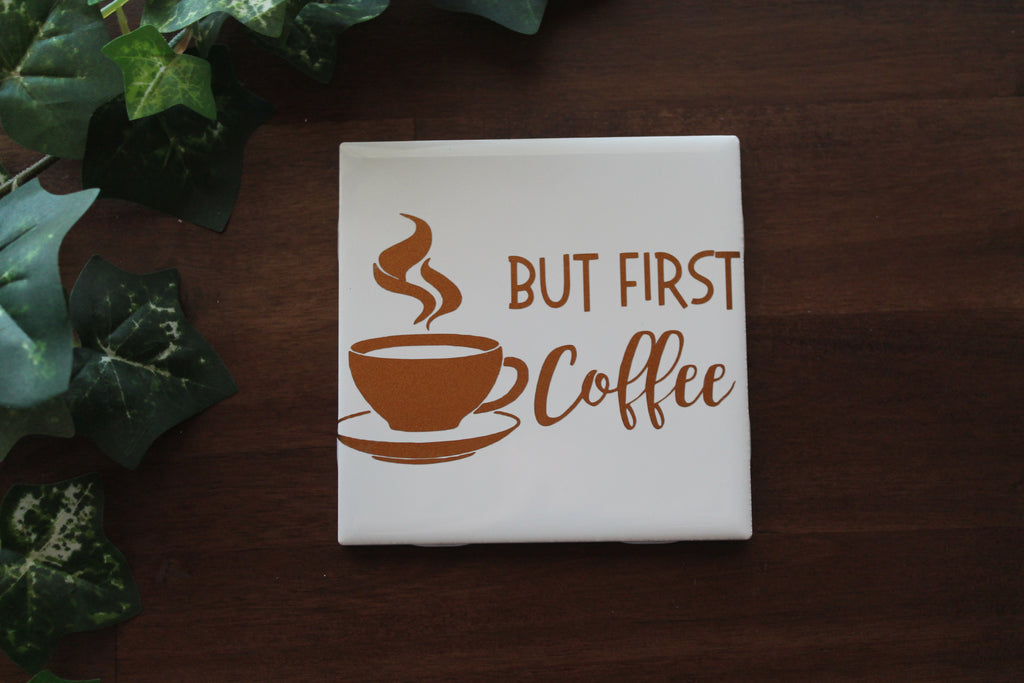 Coffee Themed Ceramic Coasters
